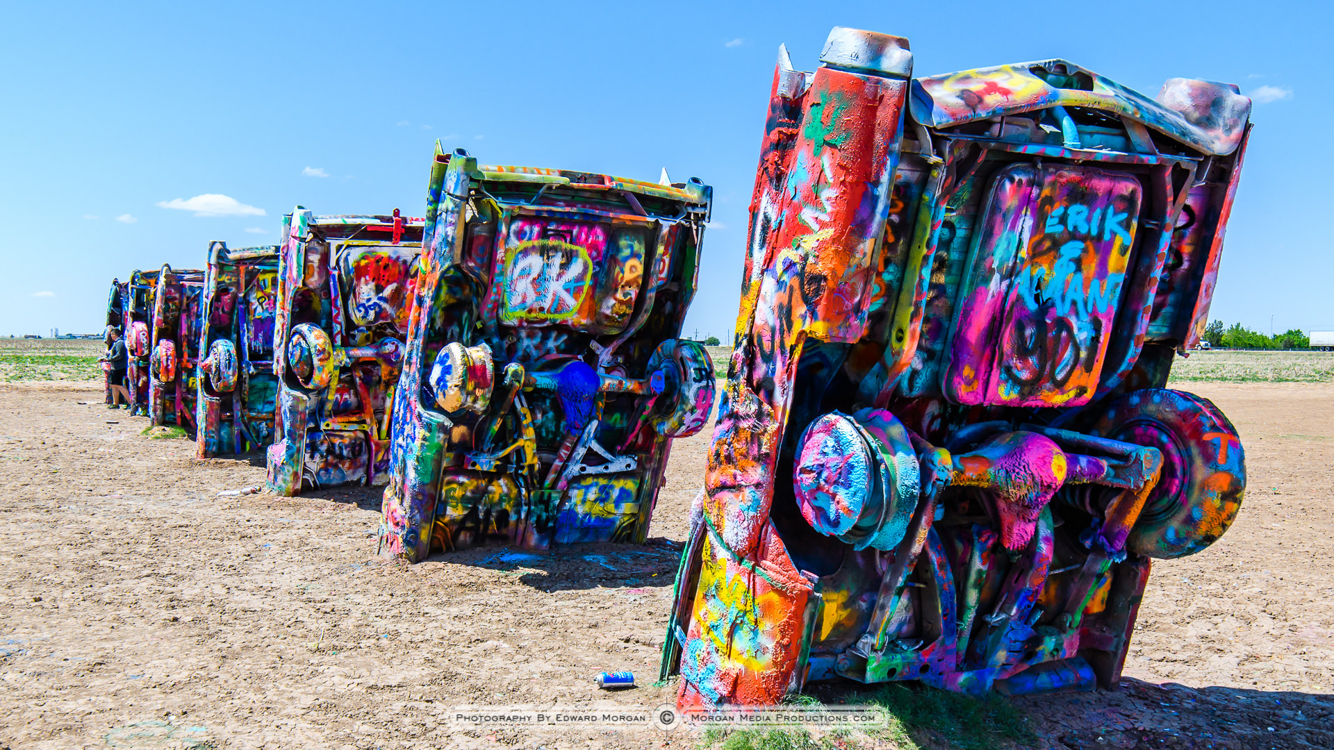 cadillac ranch photos from amarillo texas morgan media productions. Black Bedroom Furniture Sets. Home Design Ideas